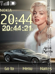 Скриншот темы Marilyn Monroe and Aston Martin