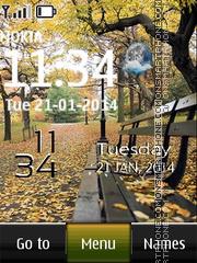 Samsung Live Autumn theme screenshot
