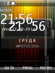 Abstract SWF Clock 01 theme screenshot