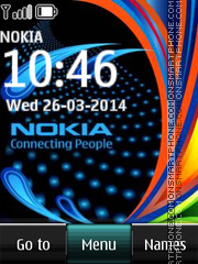 Nokia Logo Digital Clock tema screenshot