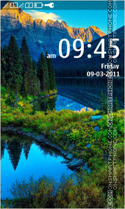 Mountain landscape 01 theme screenshot