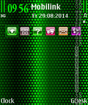 Hex Green tema screenshot