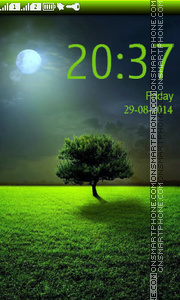 Lonely Tree tema screenshot