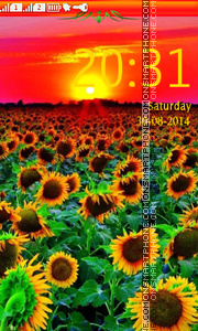 Sunflower theme screenshot