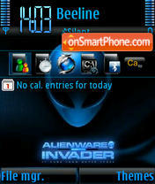 Alienware 3 theme screenshot