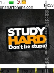 Study Hard theme screenshot