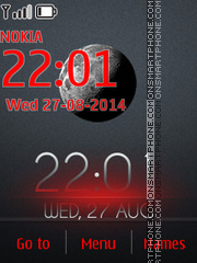 Fluorescent Clock theme screenshot