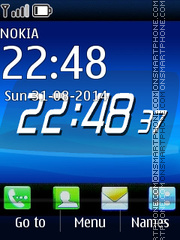 Blue Analog Clock theme screenshot