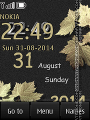 Leaves Clock tema screenshot