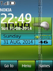 Weather Digital Clock 01 theme screenshot