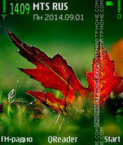 Color Of Fall tema screenshot