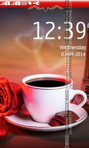 Romantic Coffee tema screenshot