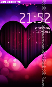 Neon Heart tema screenshot