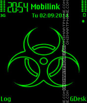 Green neon2 theme screenshot