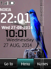 Bird digital clock theme screenshot