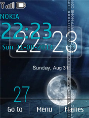 Magic Light Clock theme screenshot