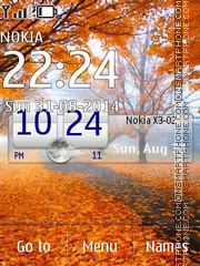 Autumn Day Clock theme screenshot