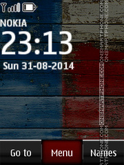 Motorola Moto E Clock theme screenshot