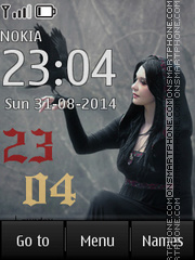 Gothic Clock tema screenshot