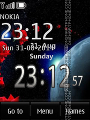 Cosminc Clock theme screenshot