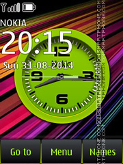 Vivid Analog Clock theme screenshot