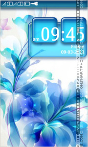 Blue Flowers 05 tema screenshot