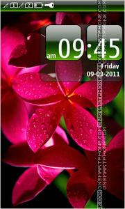 Скриншот темы Red Tropical Flower