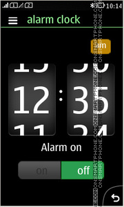 Abstraction Clock 01 theme screenshot