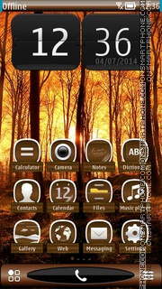 Autumn Sunrise HD tema screenshot