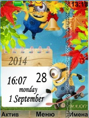 Minions Back to School theme screenshot