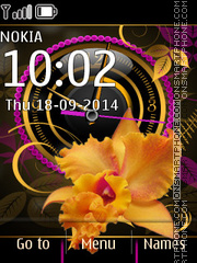 Analog Clock Flower theme screenshot
