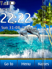 Dolphins In Paradise theme screenshot