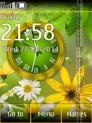 Summer Clock 02 theme screenshot