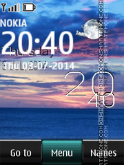 Ocean Digital Live Clock tema screenshot