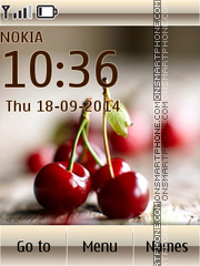 Cherries 05 tema screenshot