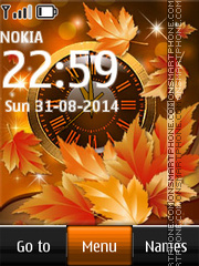Autumn Dual Clock theme screenshot