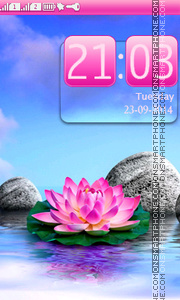Lotus And Stones tema screenshot