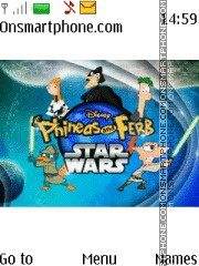 Скриншот темы Phineas and Ferb Star Wars