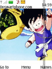 Dragon Ball theme screenshot