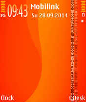 Orange theme screenshot