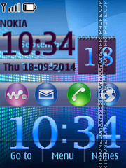 Colorful Digital Clock theme screenshot