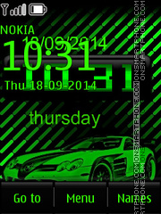 Mercedes Benz SLS tema screenshot