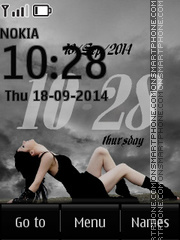 Gothic Clock 01 tema screenshot