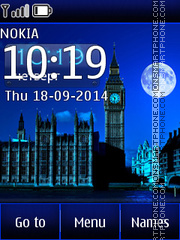 Night London tema screenshot