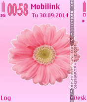 Pink flower theme screenshot