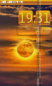 Скриншот темы Golden Moon