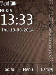 Brown Texture 240x320 theme screenshot