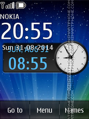 Shine Clock theme screenshot