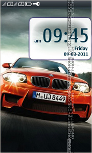 BMW 1M theme screenshot