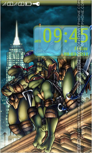 Скриншот темы Teenage Mutant Ninja Turtles 01